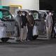 柿部会と朝倉警察署の合同夜間パトロールの出発式(福岡県朝倉市で)
