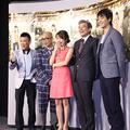 ドラマ『マチ工場のオンナ』試写会より。(左から)柳沢慎吾、竹