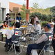 9月22日、南房総市のボランティアセンターで。屋根にブルーシートを張るニーズが多かったが、その他の活動も選択できた Photo:Diamond