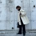 春コートはユニクロの「ステンカラーショートコート
