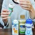 吸い口を容器に取り付けるだけの液体ミルク
