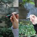 煙だけで見ても、こんなに差がある(左はプルーム・テック)
