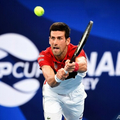 男子テニスの国別対抗戦ATPカップ準々決勝、セルビア対カナダ。