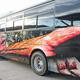 トリックアートを施したラッピングバス(岐阜県高山市で)