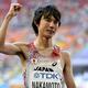 男子マラソンにて。  中本は、2時間10分50秒の5位、入賞となった。  (撮影:フォート・キシモト)  [2013年8月17日、ルジニキ・スタジアム/モスクワ/ロシア]