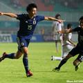 決勝点を奪ったU-21日本代表FW上田綺世(法政大)