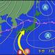 図 月曜日夜(7月27日21時)の予想天気図