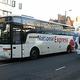 英長距離バス会社ナショナル・エクスプレスの車両=2007年1月、ロンドン(AFP時事)