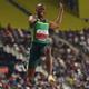 第17回世界陸上ドーハ大会、男子走り幅跳び決勝に臨むルボ・マニョンガ(2019年9月28日撮影)。(c)Kirill KUDRYAVTSEV / AFP