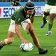 ラグビーW杯日本大会・プールB、南アフリカ対イタリア。トライを決める南アフリカのチェスリン・コルビ(2019年10月4日撮影)。(c)Anne-Christine POUJOULAT / AFP