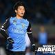 2・3月度のベストアシストを受賞したのがこの山根だ。写真:金子拓弥(サッカーダイジェスト写真部)