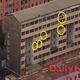 平壌市凱旋区域のマンション。黄色い丸はソーラーパネルを示す。(画像:デイリーNK)