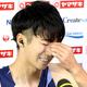 10秒15で優勝した多田修平はフラッシュインタビューで涙を流す(カメラ・竜田 卓)