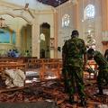 スリランカで起きた連続爆発事件の現場の一つ、ネゴンボの聖セバ