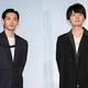 映画『リスタートはただいまのあとで』記者会見に登場した(左から)竜星涼、古川雄輝