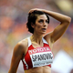 女子走幅跳・決勝にて。  写真は、銅メダルを獲得したイバナ・スパノヴィッチ(セルビア)。  (撮影:フォート・キシモト)  [2013年8月11日、ルジニキ・スタジアム/モスクワ/ロシア]