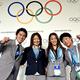 写真は、2020年のオリンピックとパラリンピックの開催都市に決まった東京と国際オリンピック委員会(IOC)による、調印式より。  (左から)千田健太、佐藤真海、田中理恵、小原日登美。  (撮影:フォート・キシモト)  [2013年9月7日、ブエノスアイレス/アルゼンチン]