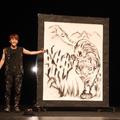 トラを描いた作品が完成した