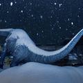 フクイティタンの背中に雪が...(tomosakiさんのツイートより)