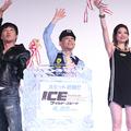 (左から)小沢一敬、柳沢慎吾、瑛茉ジャスミン