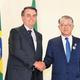 崔信源SKネットワークス会長が22日(現地時間)、ブラジルのボルソナロ大統領に会い、両国間の協力強化について議論した。[写真 SKネットワークス]