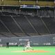 無観客試合で行われたプロ野球のオープン戦