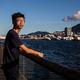「学生動源」元代表の鍾翰林氏=8月8日、香港(AFP時事)