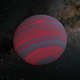 高速で自転する褐色矮星を描いた想像図。自転速度が速くなるほど色の異なる帯の幅が狭くなると考えられている(Credit: NASA/JPL-Caltech)