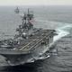 米海軍の強襲揚陸艦ボクサー(2016年3月7日撮影、資料写真)。(c)AFP=時事/AFPBB News