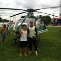 何故か練習場にヘリコプターが着陸していたブラジル時代