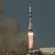 バイコヌール宇宙基地から打ち上げられるソユーズ宇宙船(Credit: NASA)