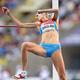 女子走高跳・決勝にて。  地元ロシアのシュコリナが2m03を跳んで、新女王に輝いた。  (撮影:フォート・キシモト)  [2013年8月17日、ルジニキ・スタジアム/モスクワ/ロシア]