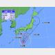 22日午後3時の台風12号の位置と進路予想。