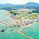 (写真)土砂投入が強行されて1年になる辺野古沿岸=2019年12月13日、沖縄県名護市(小型無人機で撮影)