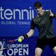 男子テニス、ヨーロピアン・オープン、シングルス決勝に進出したアンディ・マレー。写真は1回戦時(2019年10月15日撮影、資料写真)。(c)ERIC LALMAND / BELGA / AFP