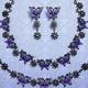 """アナ スイから""""蝶×花""""モチーフの新作アクセサリー、紫のビジュー煌めくピアスやネックレスなど"""