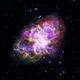 """5つの天体望遠鏡で捉えた""""かに星雲"""""""