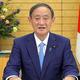 事前録画した映像を通じて、国連総会での一般討論演説を行う菅義偉首相(外務省提供)