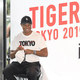 トークイベントで「TOKYO」とデザインされたTシャツを着て参加したタイガー・ウッズ