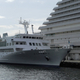 ルミナスクルーズが運航していた神戸港クルーズ船「ルミナス神戸2」(2020年3月撮影)(株式会社帝国データバンク)