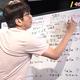 ホワイトボードを使って、マニアックな野球解説を行う石橋貴明 画像は公式YouTubeチャンネルより