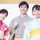 (写真左から)日本テレビ新人アナウンサーの河出奈都美、大町怜央、杉原凛