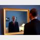 鏡を見るオバマ