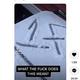 """雪が積もるゴミ箱に記された""""1F""""のサイン(画像は『bby.jade__ 2021年1月13日付TikTok「What does this mean?」』のスクリーンショット)"""