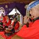 金刀比羅神社でめでたさいっぱいのお囃子が披露された=千葉県流山市(江田隆一撮影)