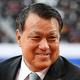 新型コロナウイルスに感染し入院していた田嶋会長が退院を報告した。写真:金子拓弥(サッカーダイジェスト写真部)