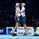 男子テニスのボブ・ブライアン(左)とマイク・ブライアン(2017年11月13日撮影)。(c)Glyn KIRK / AFP