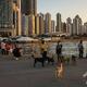 香港で、犬を散歩させる人々(2020年1月30日撮影、資料写真)。(c)DALE DE LA REY / AFP