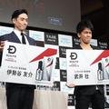 スカルプD「メディカルミノキ5」発表会より。(左から)伊勢谷友