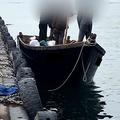 15日、三陟港に着いた漁船(KBS提供、転載・転用禁止)=(聯
